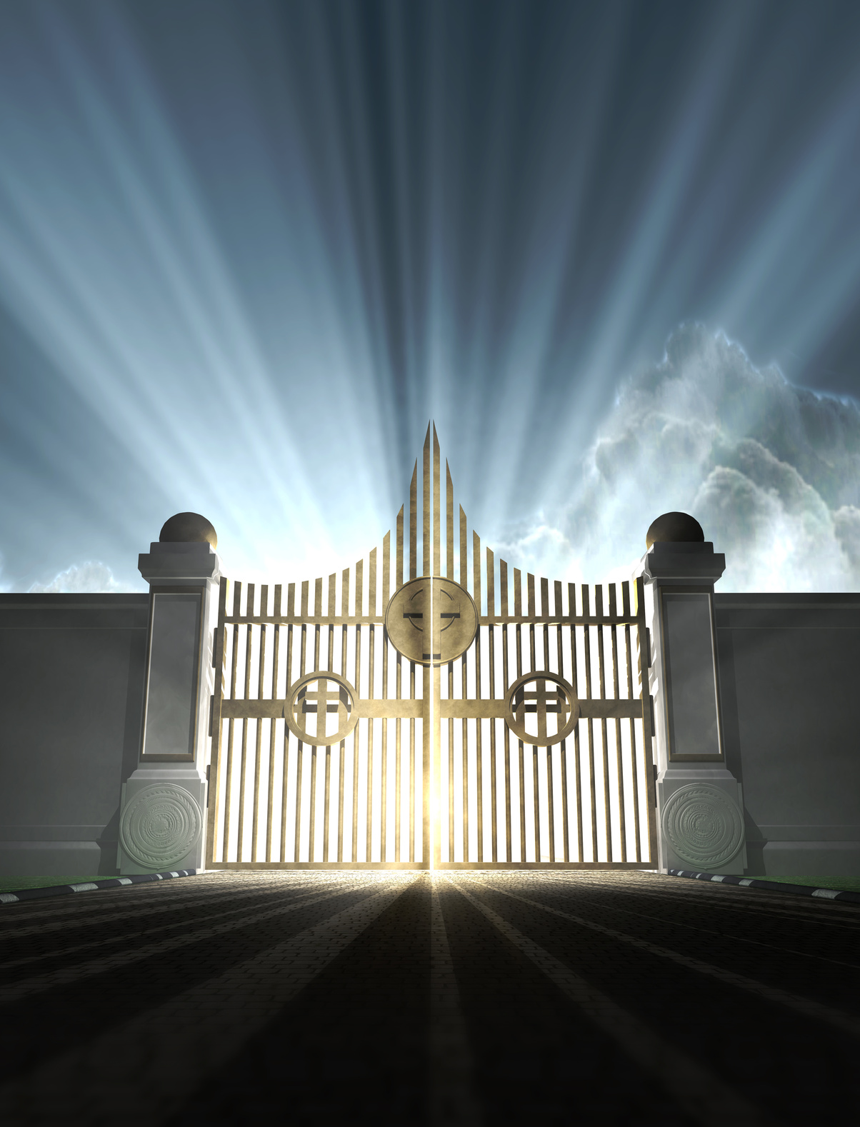 Heaven Gates With Angels And Heaven 39 s Gates Open Wide